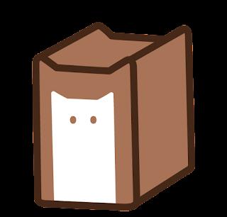 ねこ食パン(一斤)のイラスト(こげ茶色)