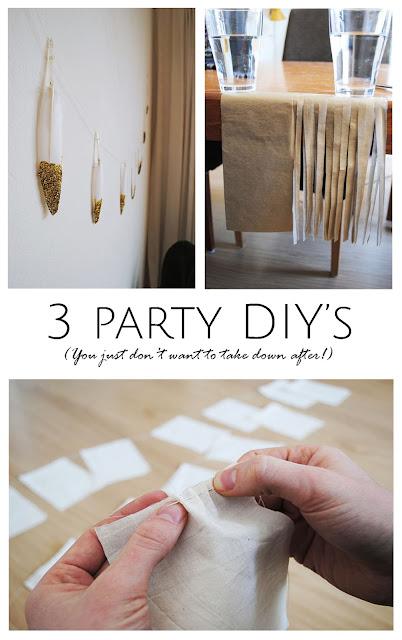 3 party DIY's