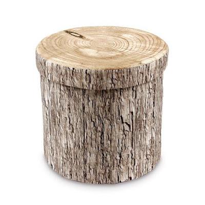 Shop the Tree Stump Pattern Folding Storage Ottoman at NileCorp.com