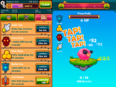 Tapventures v7.3 Mod Apk Unlimited Gold Runes & Chests