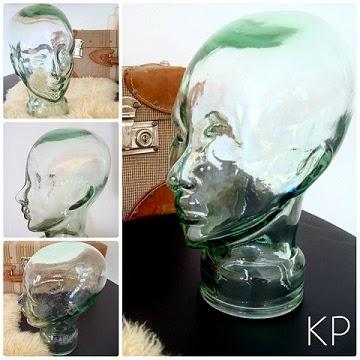 tienda decoración vintage online en valencia. cabezas de cristal para decoración.