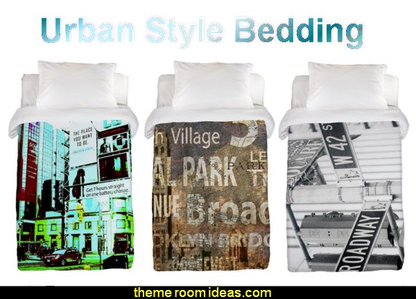 urban style bedding  Urban theme bedroom ideas - urban bedrooms - Urban skater theme - Urban style decorating skateboarding theme - Urban bedding -  graffiti themed skater park - city living urban chic decorating ideas - city theme bedrooms - New York City bedding - city decor