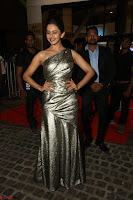 Rakul Preet Singh in Shining Glittering Golden Half Shoulder Gown at 64th Jio Filmfare Awards South ~  Exclusive 040.JPG