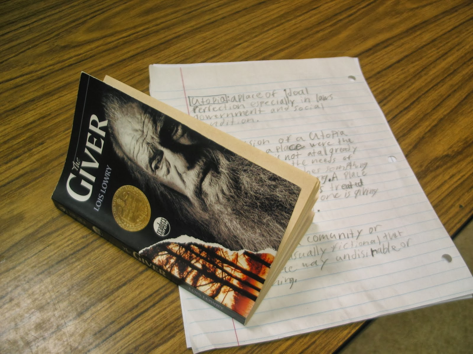 Learning In Place The Giver By Lois Lowry