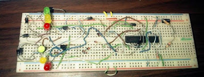 simple 2-waytraffic light circuit