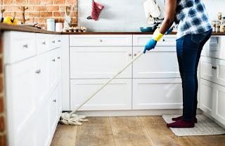 C'est plus facile de nettoyer la cuisine...