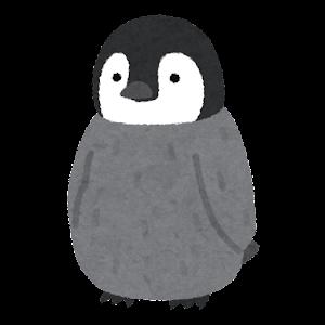 コウテイペンギンのヒナのイラスト