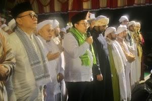 Fadli Zon dan Para Habaib Hadiri Milad Majelis Nurul Musthofa ke-23 di Monas