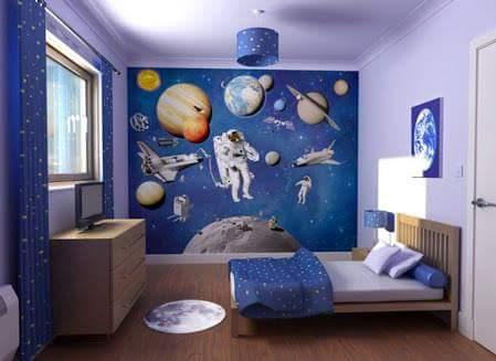 Lukisan Pemandangan Ruang Angkasa