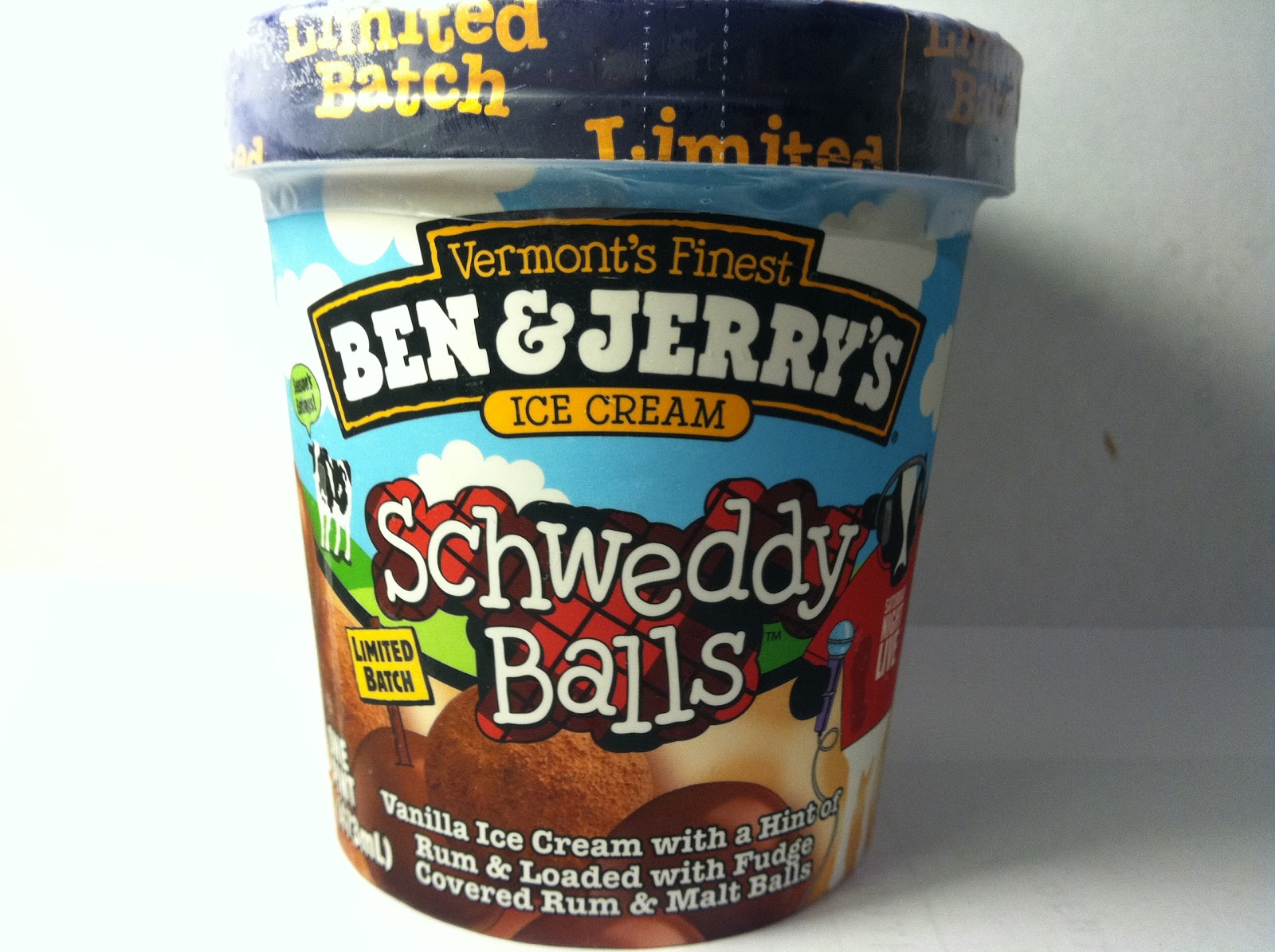 crazy food dude: review: ben & jerry's schweddy balls ice cream