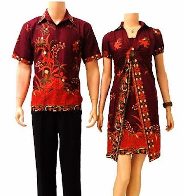 Model Baju Batik Pesta untuk Muslim Sarimbit Modern Terbaru
