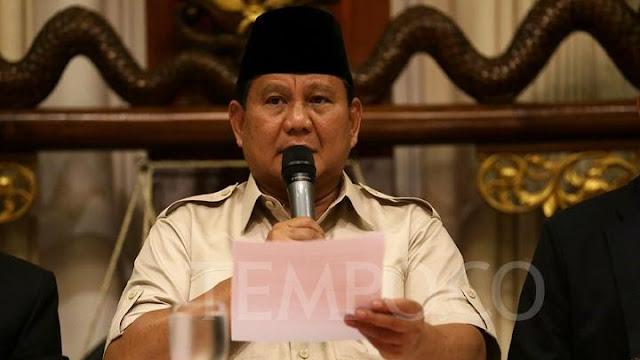 Prabowo: Soal Rupiah Lebih Penting, Tim Sukses Hanya Masalah Teknis