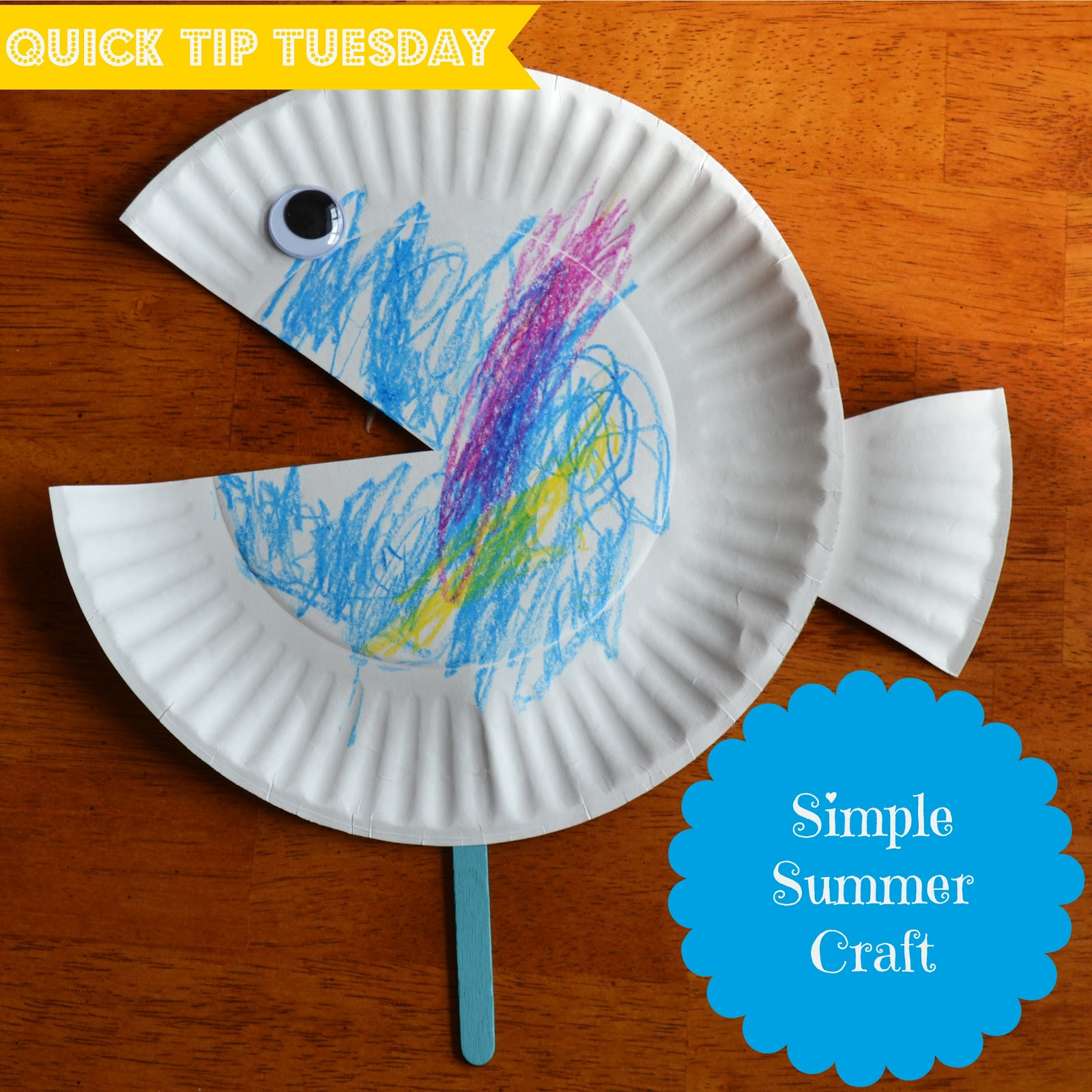 East coast mommy quick tip tuesday 5 simple summer craft for Art and craft with paper easy