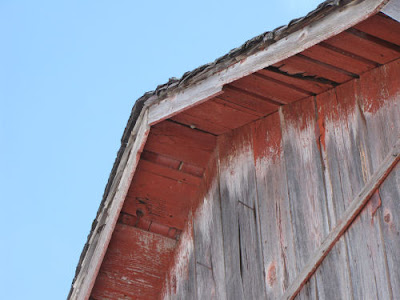 gable of weathered barn