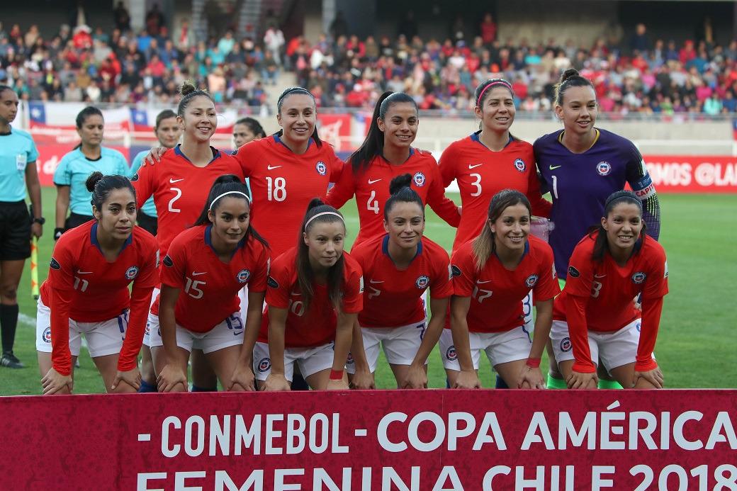 Formación de selección de Chile ante Brasil, Copa América Femenina 2018, 16 de abril