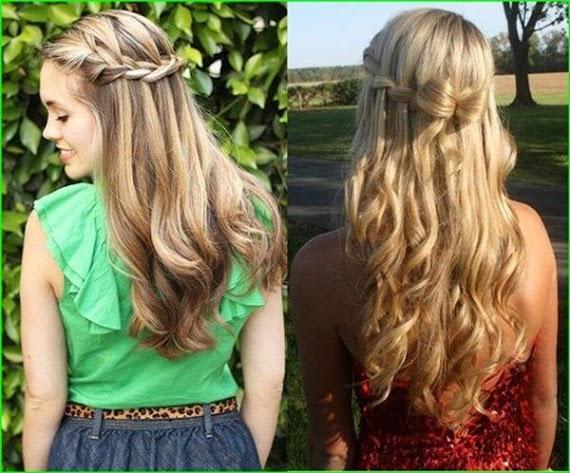 Wasserfall Frisur Glatte Haare