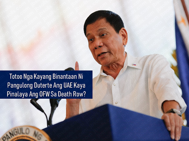 President Rodrigo Duterte is always known for his great compassion to overseas Filipino workers (OFW) and this is how he won their heart. Even his flawless victory as the elected president of the Republic is attributed to the unanimous votes of the OFWs.  The war on drugs, according to the president, is for the good of the family of OFWs. He even warned the drug dealers that hey must stop destroying the lives of the children of the OFWs because their parents are forced to do sacrifice leaving their families behind just to go home with children being hooked in using prohibited drugs.        Ads      Sponsored Links  With his great concern to the OFWs, he ordered the total deployment ban on OFWs going to Kuwait after the discovery of the body of the household worker Joanna Daniela Demafelis inside a freezer in Kuwait.  Just recently, an OFW in a death row in the UAE, Jennifer Dalquez was freed. Dalquez was charged with the murder of her employer who allegedly attempted to rape her. Dalquez acted on self-defense and killed her male employer.     After nearly  4 years in the UAE prison, Dalquez was finally free and now enjoying the embraces of her beloved family back home. The OFW even recalled that while she was inside the prison, she never loses hope that she will be freed one day.  The president has definitely done something which led to the freedom of the OFW. Labor Secretary Silvestre Bello III confirmed that President Duterte threatened the UAE government that should they push through with the execution of OFW Dalquez, he will impose a total deployment ban of OFWs in the UAE just like what he did to Kuwait.    Bello relayed the message from President Duterte on their meeting with the UAE officials together with OWWA Administrator Hans Leo Cacdac, that the president honors the laws of the UAE but if they push through with the execution of Dalquez, he will be forced to declare a total deployment ban of OFWs in the UAE.  Two months later, the UAE government commuted 