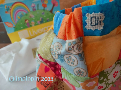 Falda para niña, hecha de patchwork.