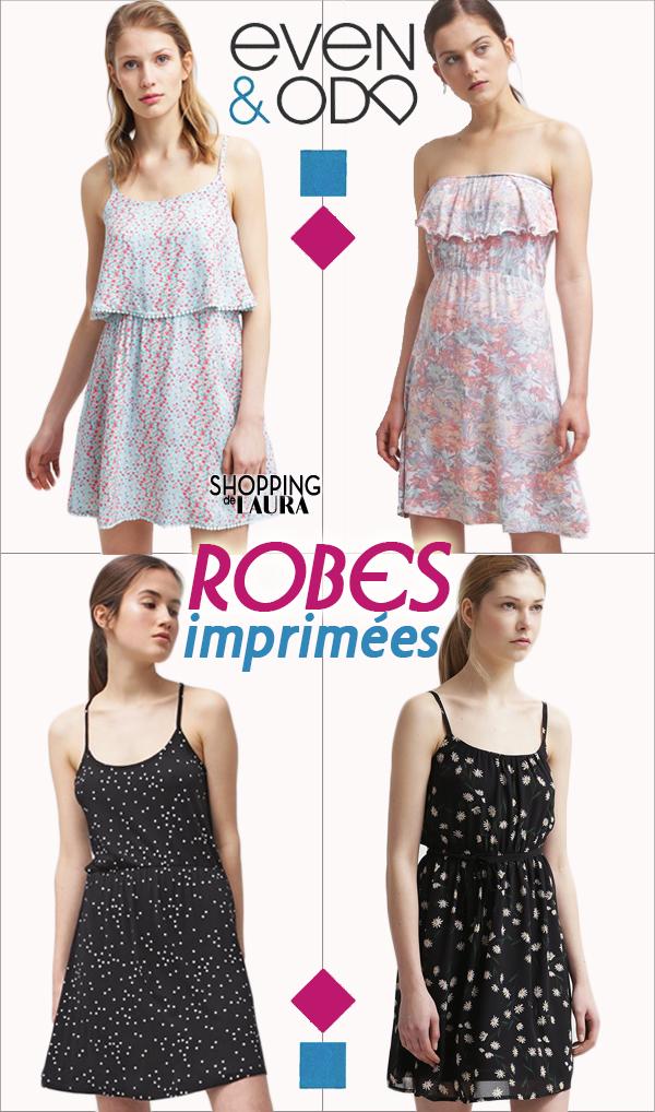 Robes courtes imprimées fleurs EVEN&ODD