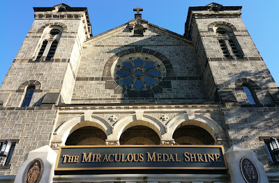 Front of Miraculous Medal Shrine, Philadelphia PA