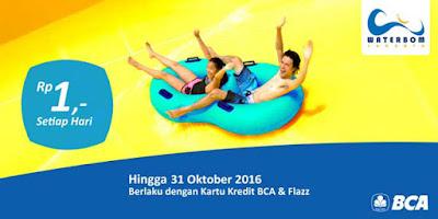 Waterboom Jakarta – Promo BCA Flazz & Kartu Kredit