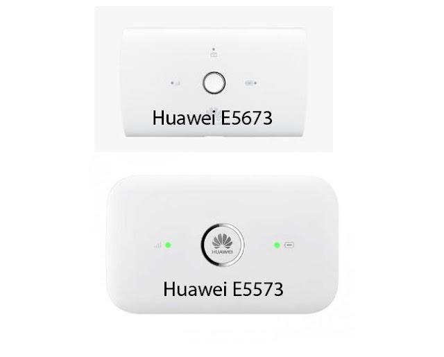 Perbandingan Huawei E5673 dan Huawei E5573