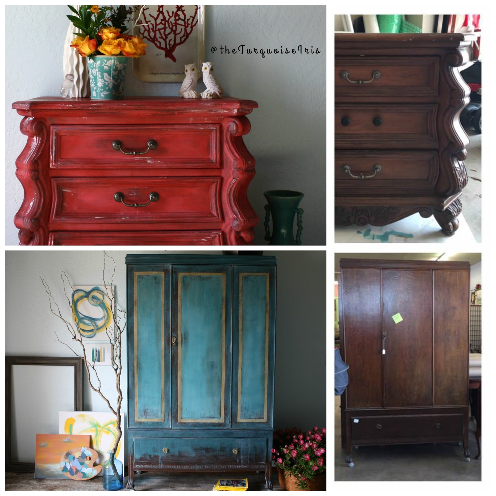 Curves For Days Here With This Coral Red Chest Furniture Makeover