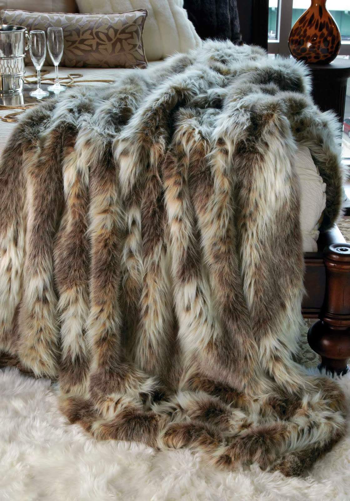 Ikea Faux Sheepskin Rug FRESH + TWIST : Decorating with Sheepskin & Faux Fur ...