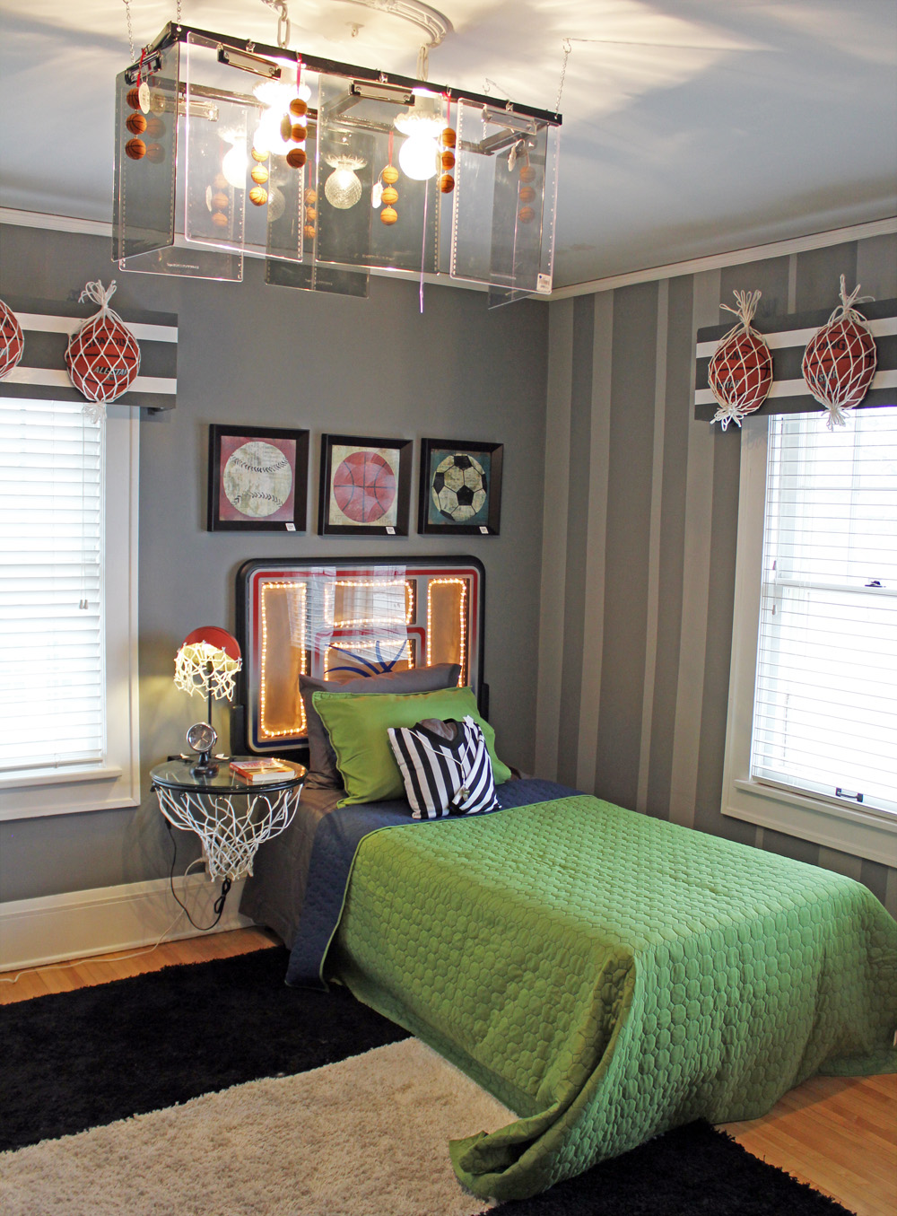The bachmans 2012 holiday ideas house the bedrooms for Basketball bedroom designs