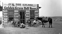 Miles City cowboy saloon, 1880