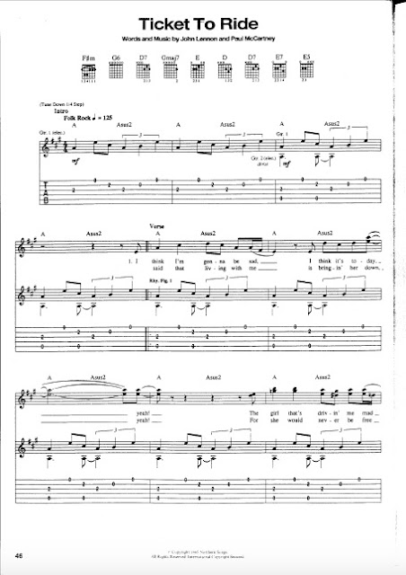 The Beatles - Ticket To Ride partitura