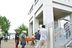 南海トラフ巨大地震を想定した避難訓練