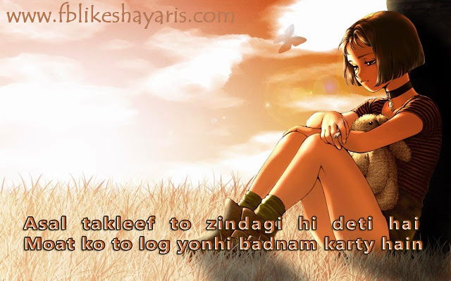 Zindagi Best Collection Shayari and SMS 2 Line, 4 Line With Images