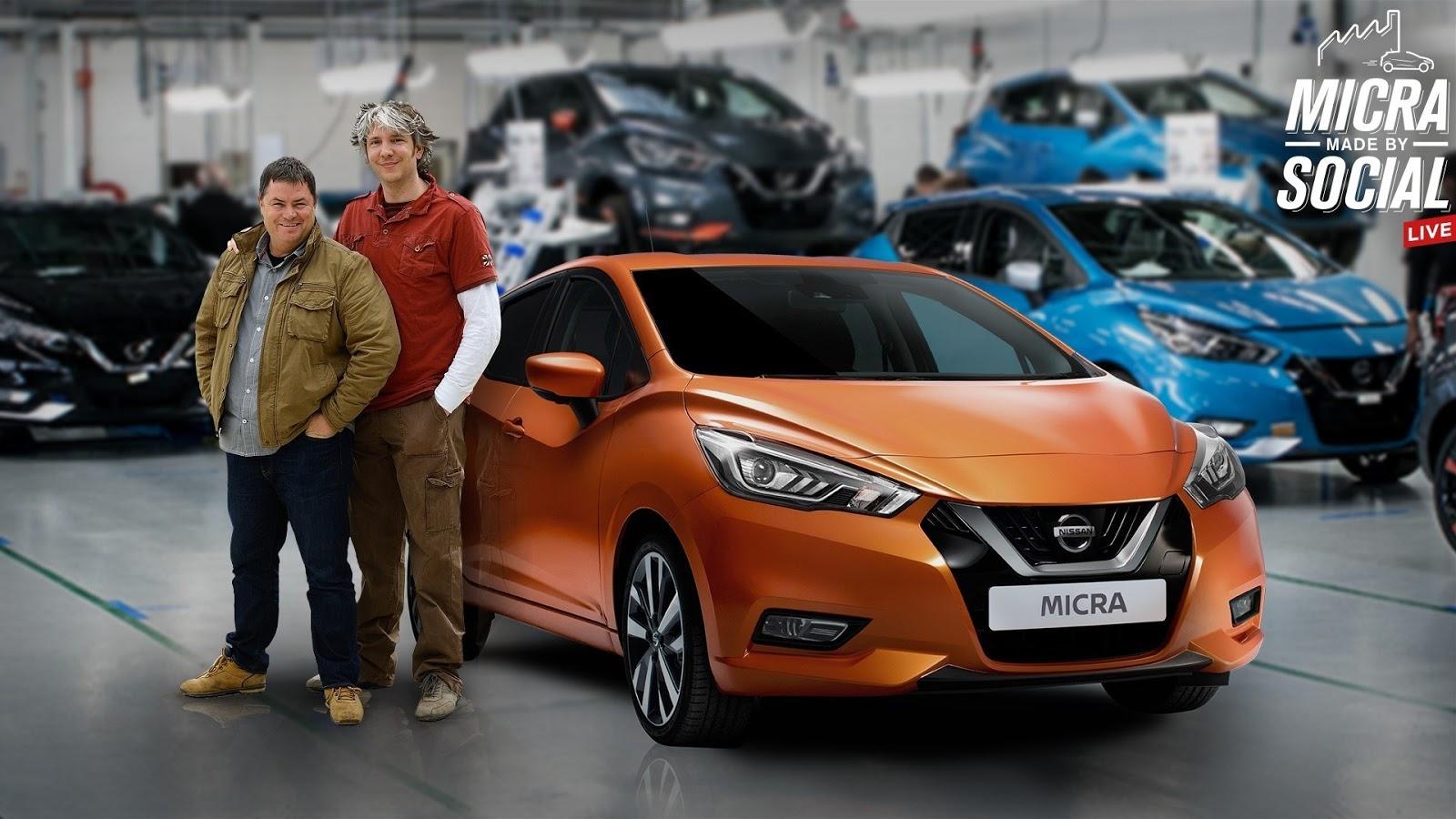 Οι φίλοι της Nissan διαμορφώνουν το νέο MICRA  στην γραμμή παραγωγής