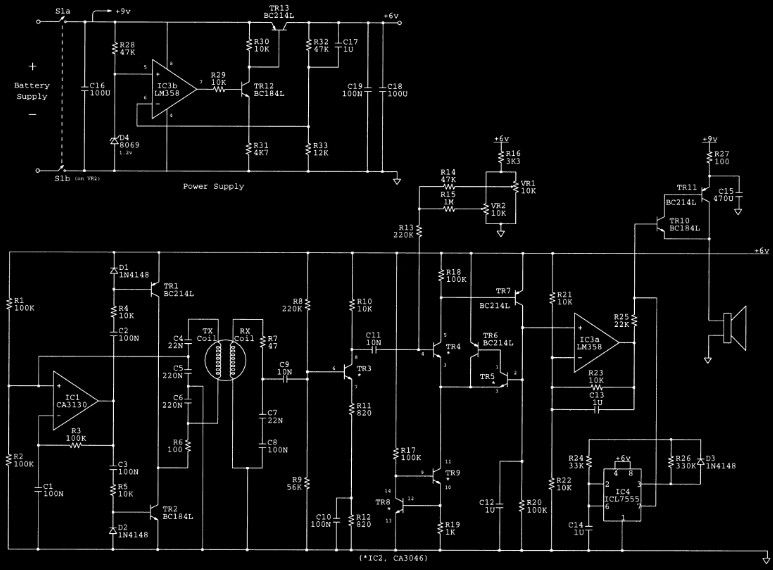 Easy Metal Detector Circuit on one s circuit diagram
