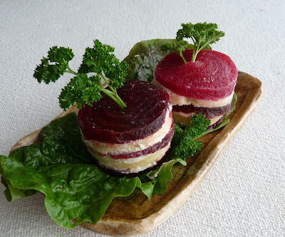 Beet, Apple & Goat Cheese Stacked Salad