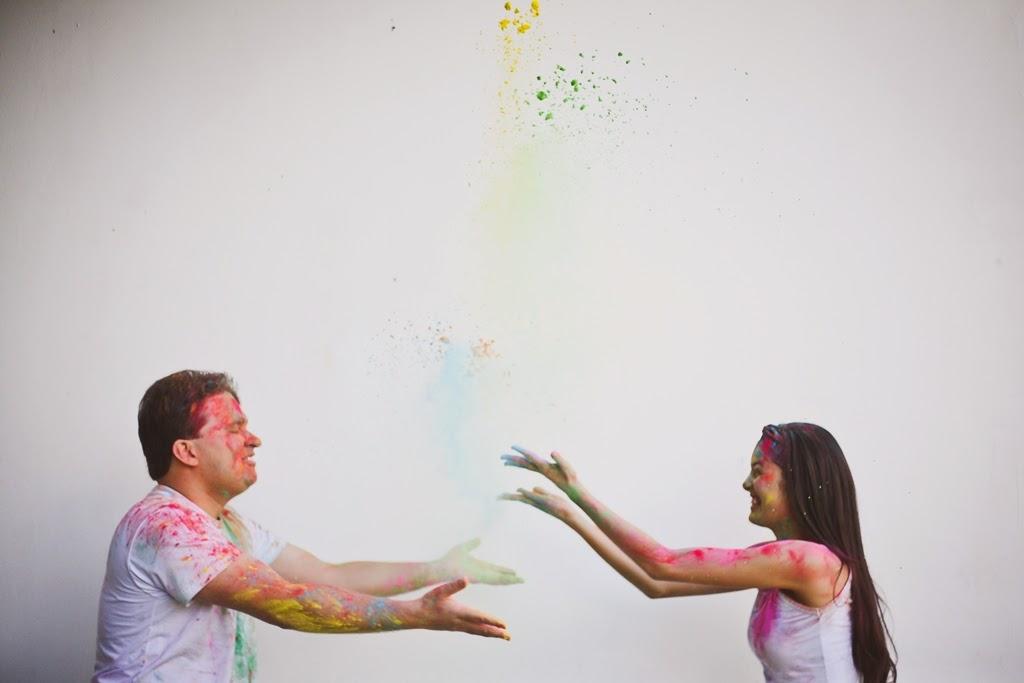 ensaio de fotos holi powder po colorido