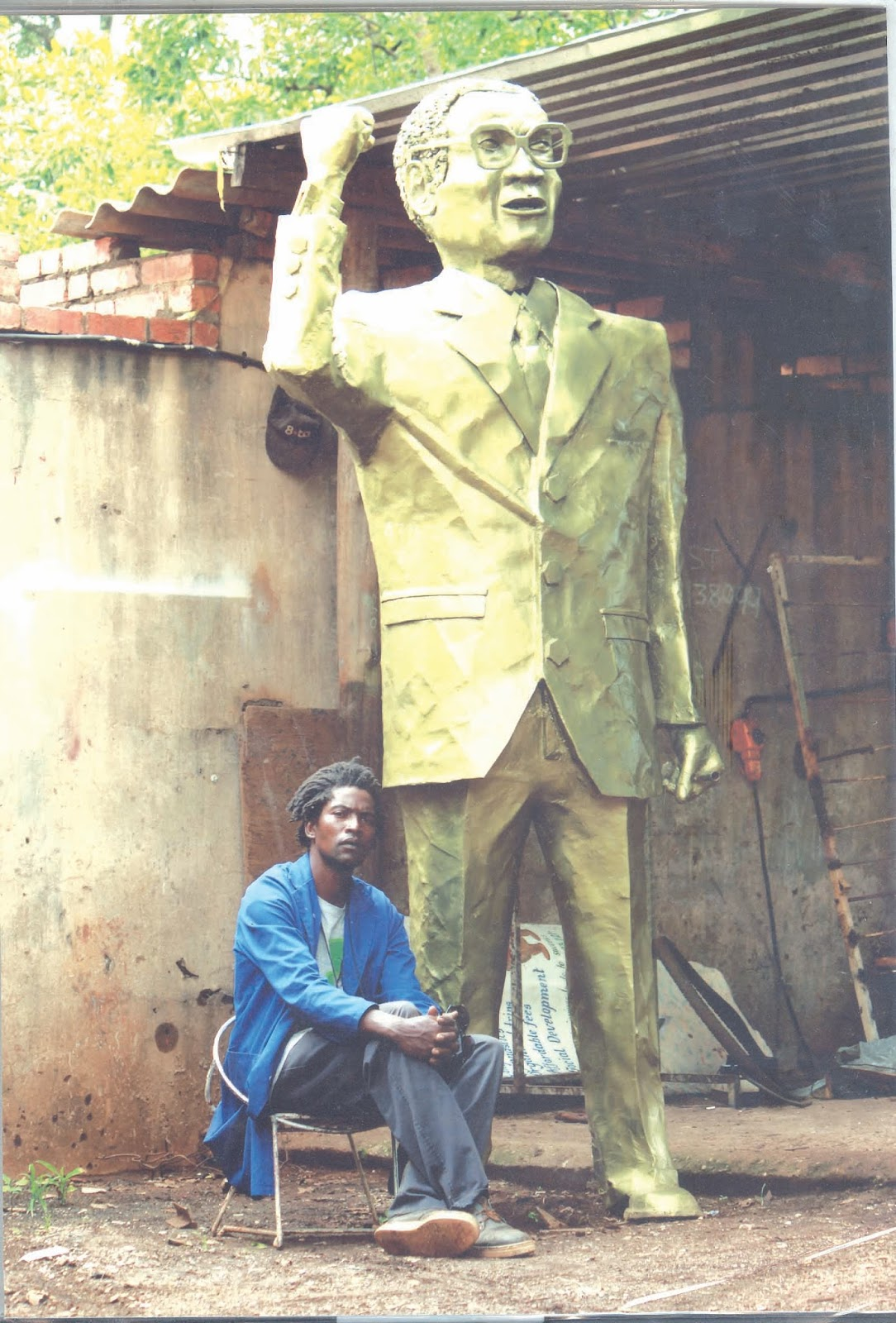 Another Hideous President Mugabe Statue Rears Its Ugly Head
