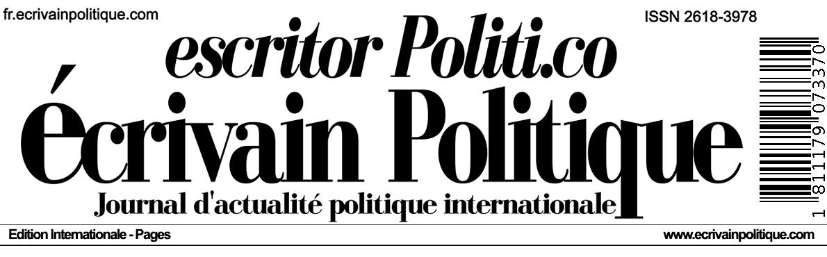 fr.Écrivain Politique - Journal d'actualité politique internationale  ISSN 2618-3978