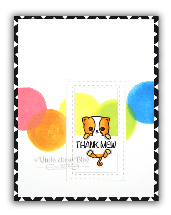InkOn3 Kitty card by Understand Blue