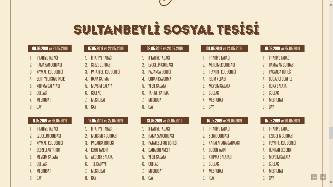 sultanbeyli iftar mekanları sultanbeyli iftar yemeği sultanbeyli iftar menüsü