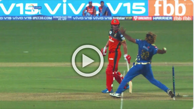 MI vs RCB lat ball of Malinga