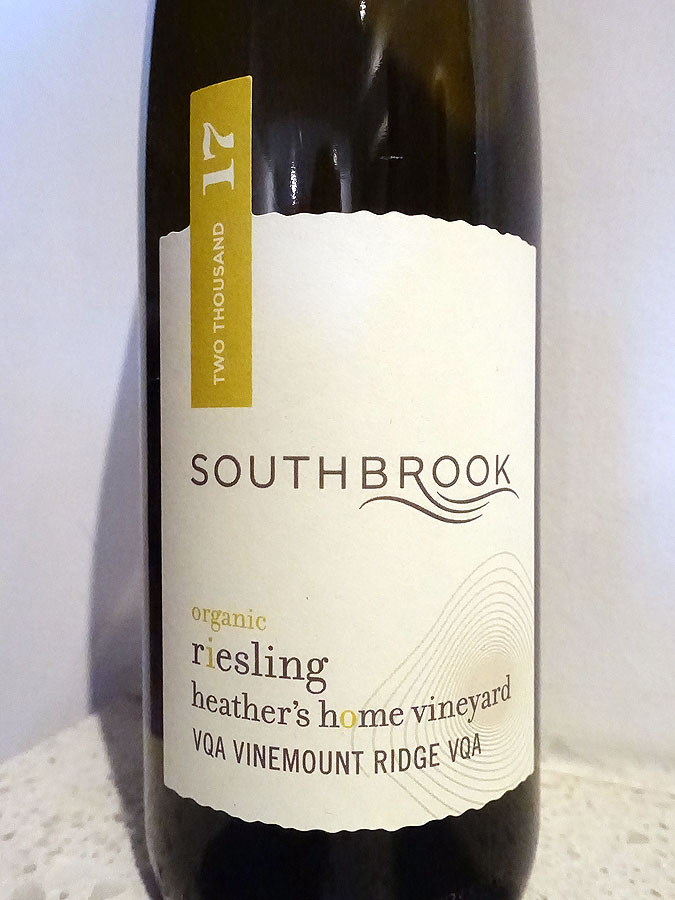 Southbrook Heather's Home Vineyard Riesling 2017 (91 pts)