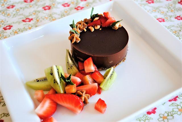 Tartaletas cremosas de chocolate negro