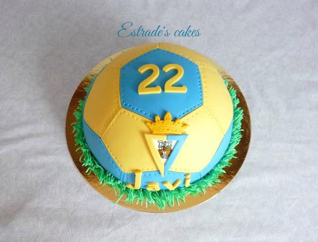 Tarta balón del Cádiz CF 3