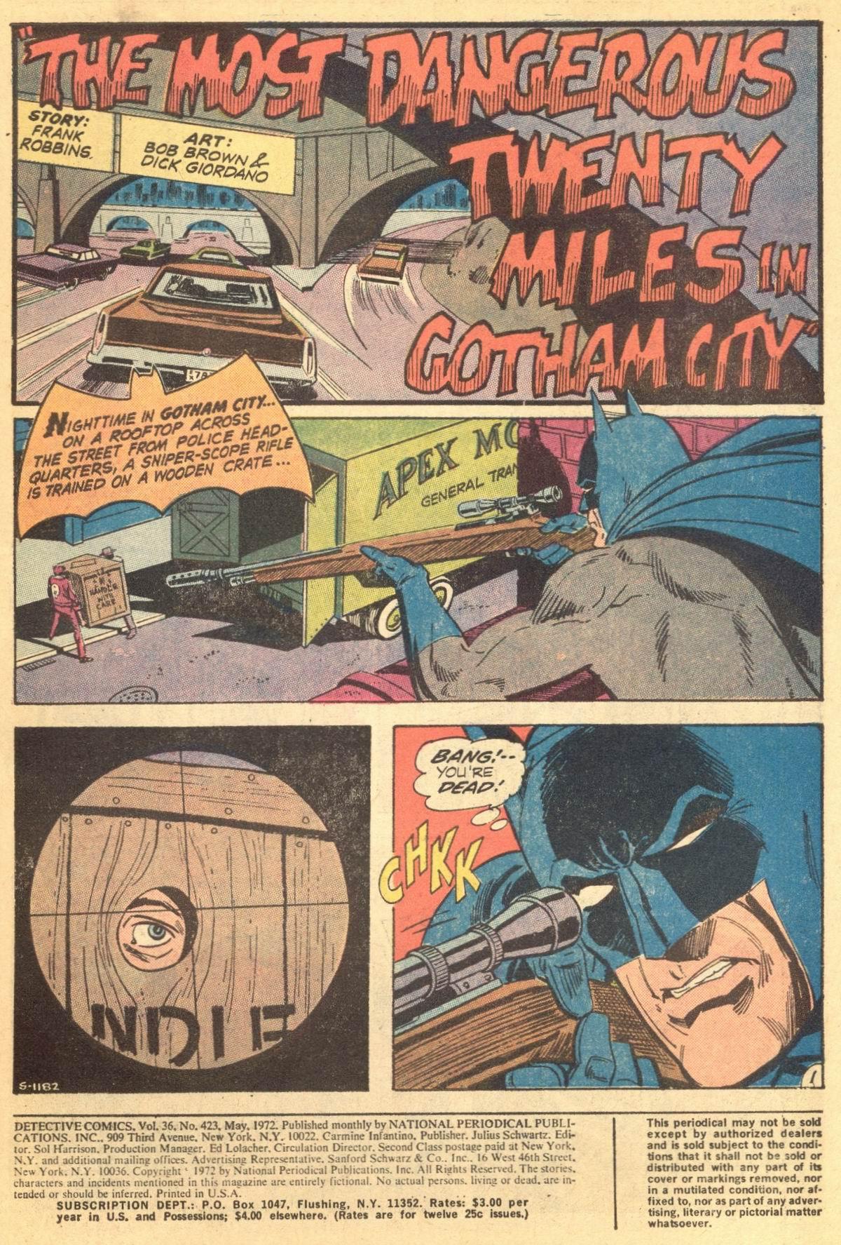 Detective Comics (1937) 423 Page 2