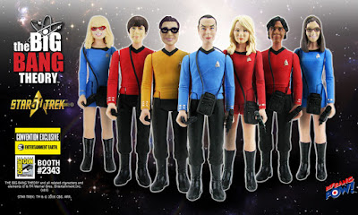 "San Diego Comic-Con 2016 Exclusive The Big Bang Theory x Star Trek: The Original Series 3¾"" Action Figures by Bif Bang Pow! x Entertainment Earth"