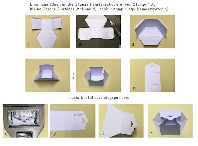 verpackung-fuer-kleinigkeit-bonbon-mit-stampin-up-framelits-fensterschachtel-und-designerpapier-signalfarben-tasche-gefaltet-demonstratorin-in-coburg-punkte-bermuda-pazifik-blutorange-wassermelone-flamingo-mangogelb-jade-amethyst anleitung diy schritt für schritt