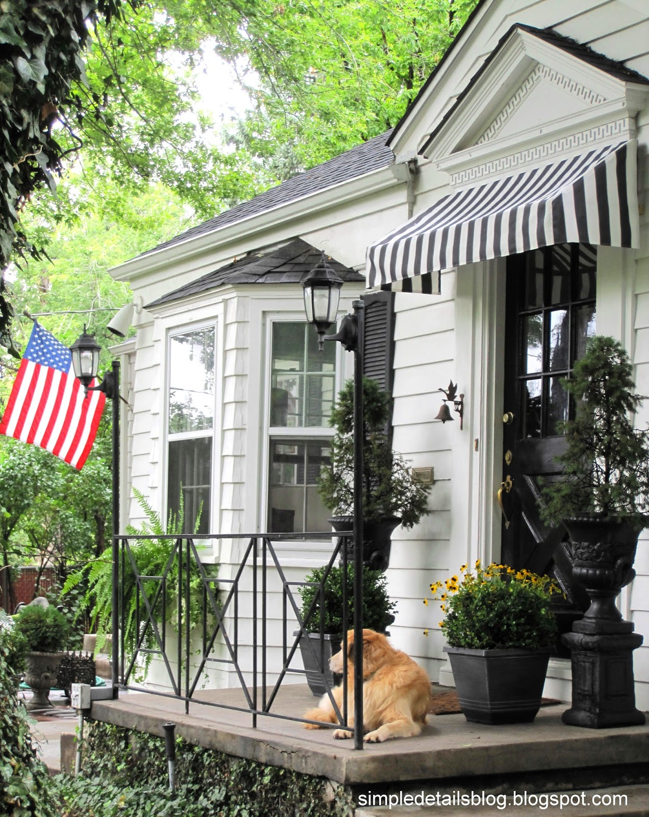 Simple Details Diy Black And White Awning Reveal