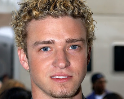 model gaya rambut Justin Timberlake tahun 2002